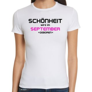 Schönheit Im September Geboren Ladies T-Shirt
