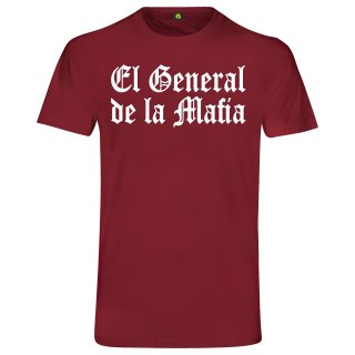 El General De La Mafia T-Shirt Bordeaux Rot XL