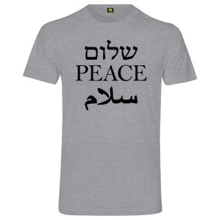 Peace T-Shirt Grau Meliert XL