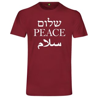 Peace T-Shirt Bordeaux Rot 2XL