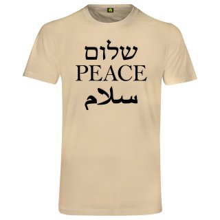 Peace T-Shirt Beige L