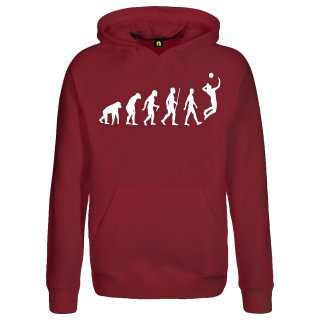 Evolution Volleyball Hoodie Bordeaux Red 2XL
