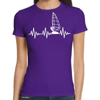 Heartbeat Surfing Ladies T-Shirt
