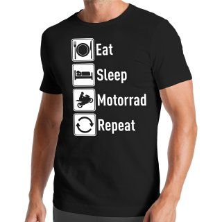 Eat Sleep Motorrad Repeat T-Shirt