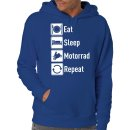 Eat Sleep Motorrad Repeat Kapuzenpullover