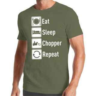 Eat Sleep Chopper Repeat T-Shirt