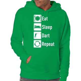 Eat Sleep Dart Repeat Kapuzenpullover