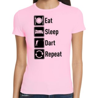 Eat Sleep Dart Repeat Damen T-Shirt