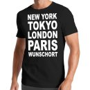 New York Tokyo London Paris Wunschort T-Shirt