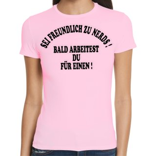 Be Friendly To Nerds Ladies T-Shirt