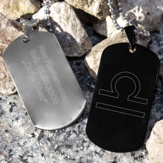 Zodiac Dog Tag