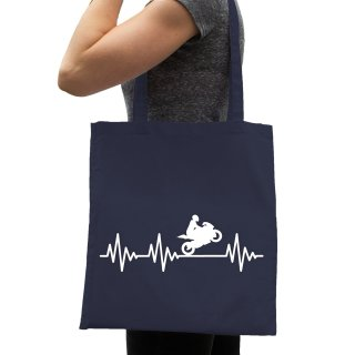 Heartbeat Motorcycle Cotton Bag