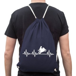 Heartbeat Motorcycle Gym Sack