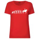 Evolution Horse Ladies T-Shirt Red M